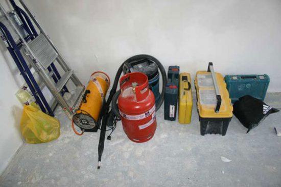 Инструменты, необходимые для монтажа