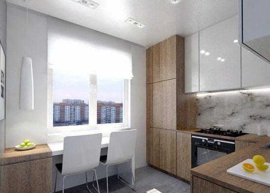На маленькой кухне нужно задействовать максимум полезного пространства