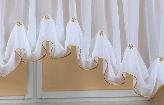 Легкие шторы из органзы