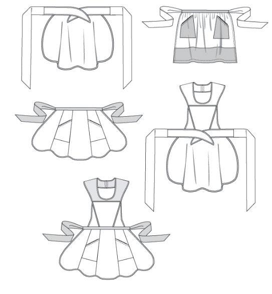 Варианты пошива фартука