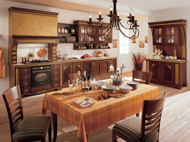 Особое внимание при оформлении кухни в стиле кантри необходимо уделять аксессуарам