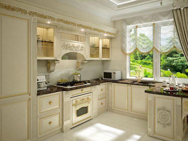 Оформляя кухню в английском стиле, упор необходимо делать на натуральность