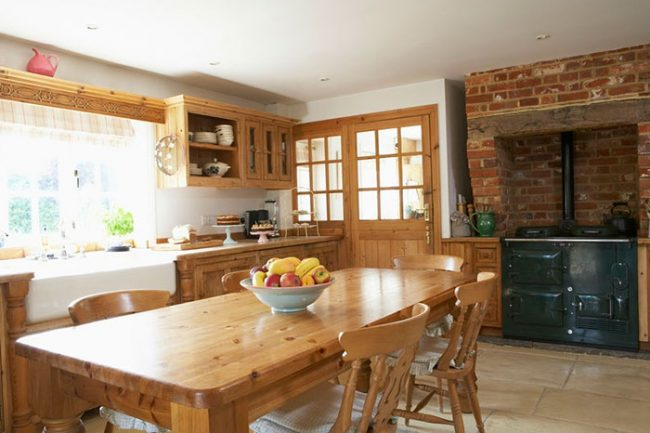 Деревенский стиль на кухне