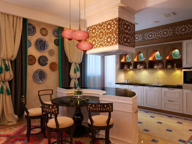 Кухни в арабском стиле требуют наличия большого пространства
