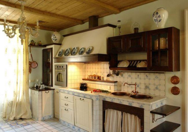 Интерьер кухни под старину