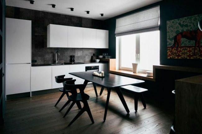 Оформить кухню в стиле минимализм достаточно сложно и дорого