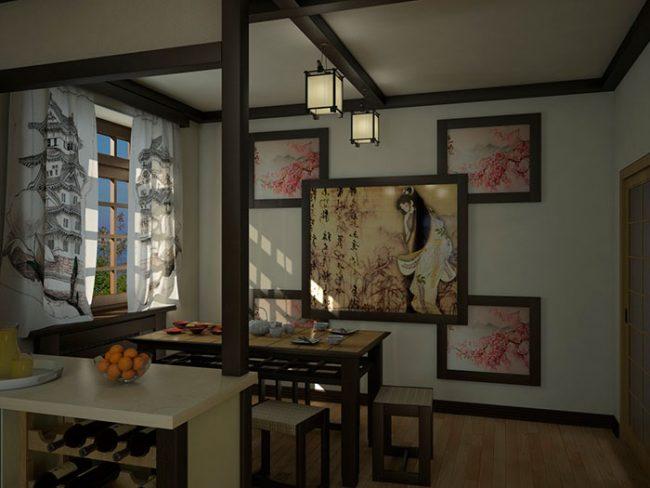 Изображения сакуры - неизменный атрибут кухни в японском стиле