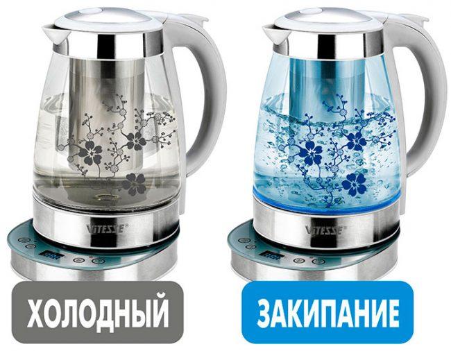 Чайники с корпусом из стекла имеют привлекательный вид, но неустойчивы к повреждениям
