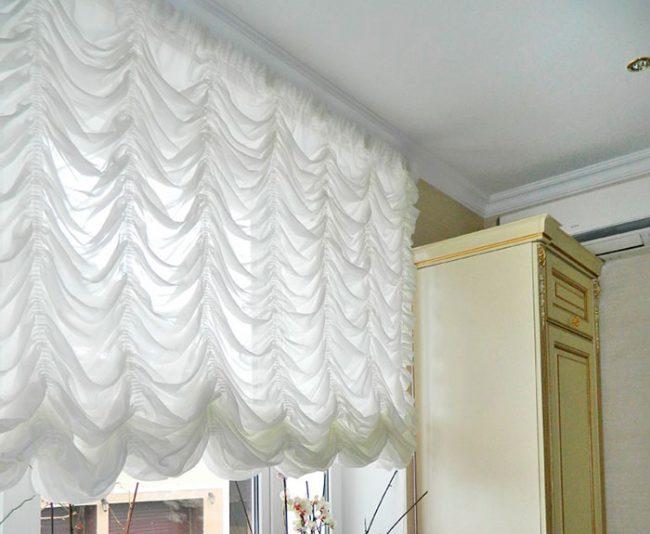 Французские шторы для кухни