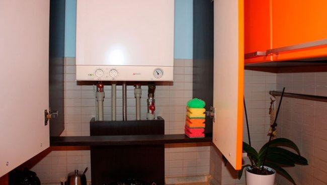Как спрятать на кухне котел