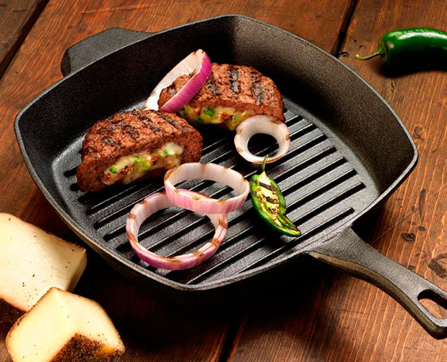 Пища, приготовленная на сковороде-гриль, полезнее, чем на обычной сковороде
