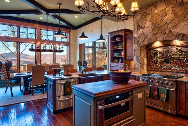 Кухни в стиле шале