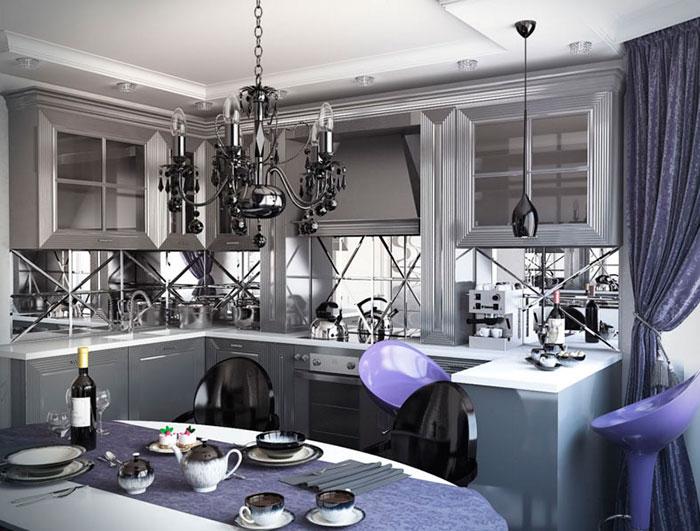 Оформление кухни в стиле арт-деко: рекомендации с фото