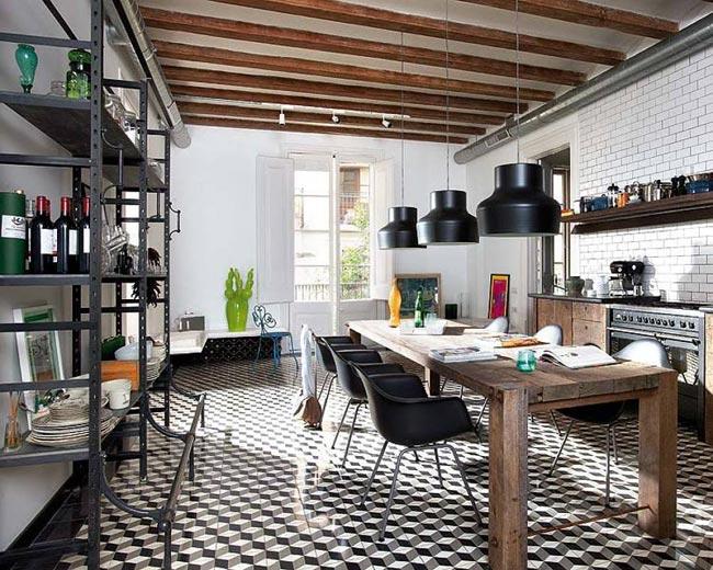 Стиль лофт в интерьере кухни: отказ от шаблонов в пользу оригинальности